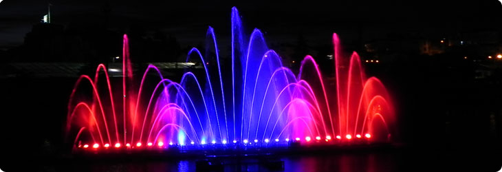 Impressive water show manufactured by Saf-Rain