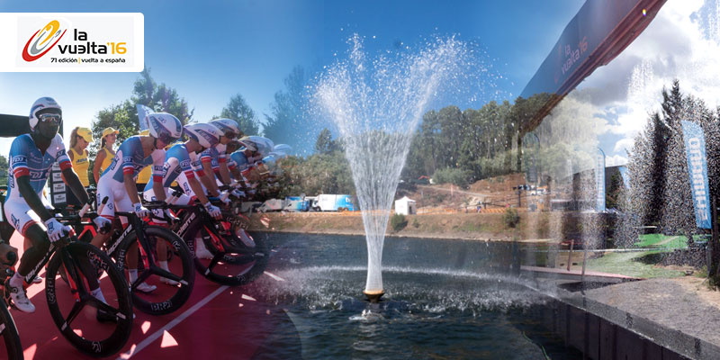 'Star' water fountains for cycling stars