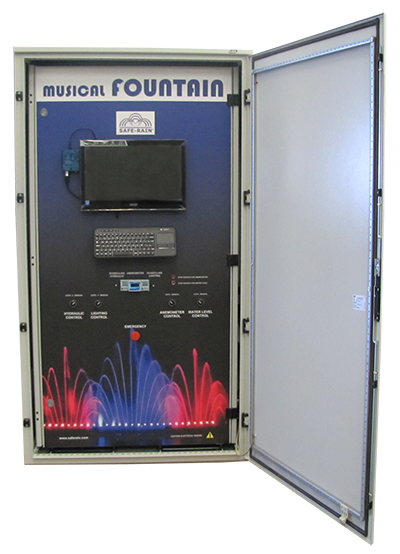 Dry fountains control panel DMX