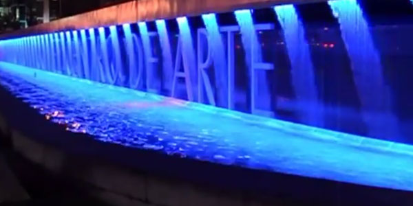 Indoor and outdoor digital water curtain