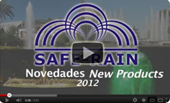 New productos for Architectural fountains manufactured by Safe-Rain
