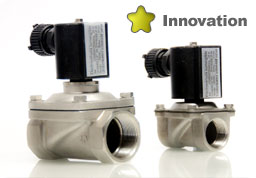 Underwater solenoid valves for water feature fountains