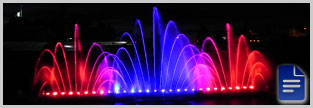 Water show with DMX or PLC technologies