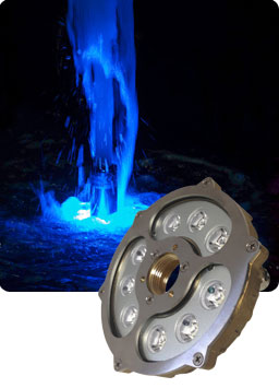LED fountain ring RGB