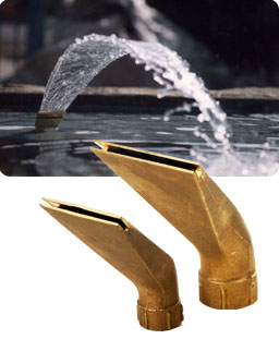 Laminar water jet performed by our Laminar Fan fountain nozzle