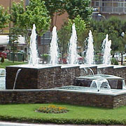 Architectural fountain made of several Calix Jet
