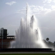 Water feature fountain with several lance jet III