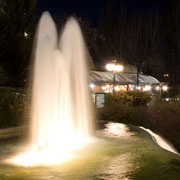 Fountain lighted in the Casa de Campo of Madrid