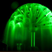 Sample of green lighted water hemisphere