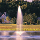 Lake fountains. Flare & sky Geyser