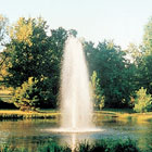Lake fountains. Full Geyser