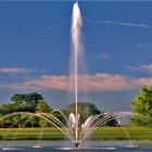 Lake fountains. Shooting Star