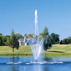Lake fountains. Trellis & Sky Geyser